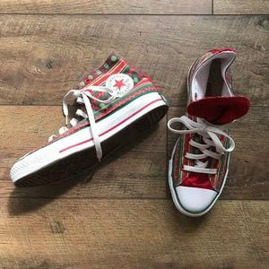 Converse Ugly Christmas Sweater Hi Top Sneakers